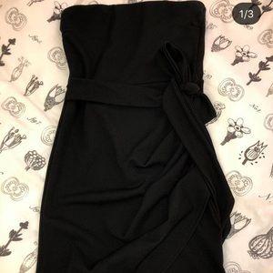 Asymmetrical knot tube dress